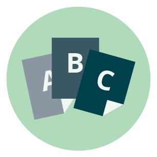 Icône des cartes des options