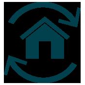 icône d'une hypothèque inversée